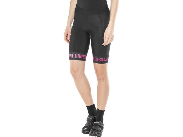 Alé Cycling Graphics PRR Strada Sykkelbukse Dame black-fluo pink